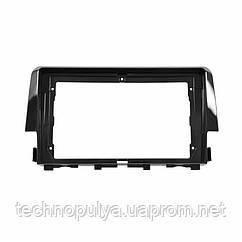 """Переходная рамка Lesko 9"""" Black для автомобиля Honda Civic 2016 HO 085N (6502-22643)"""