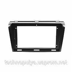 "Переходная рамка Lesko 9"" для автомобиля Mazda 3, Axela 2004-2009 MA 036N Черный (6474-22650)"