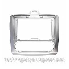 Переходная рамка Lesko для автомобилей Ford Focus 2009 FR 087N Auto AC Серебристый (6513-22633)