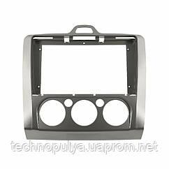 Переходная рамка Lesko для Ford Focus 2009 FR 110N Manual AC Gray (7226-22634)