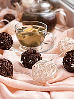 Светодиодная гирлянда из плетёных шариков «Шоколадное настроение» 2 метра. 20 шариков, фото 1