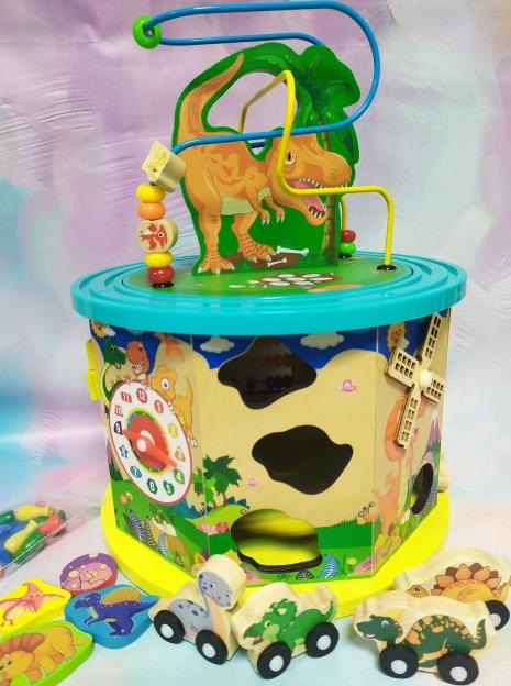 Деревянный логический куб, развивающая игра, змейка, лабиринт-пазл, счеты, шестеренки, С 39183