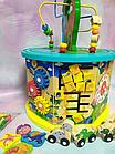 Деревянный логический куб, развивающая игра, змейка, лабиринт-пазл, счеты, шестеренки, С 39183, фото 2