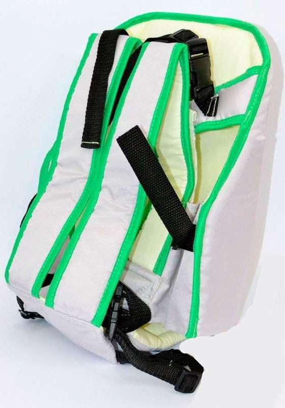 Рюкзак-кенгуру для немовлят, від 3-х місяців і вагою до 18 кг, дві позиції для дитини, сірий №6