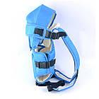 Рюкзак-кенгуру для немовлят, від 2-х місяців і вагою до 15 кг, три позиції для дитини, синій №8 - 1470, фото 2