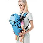 Рюкзак-кенгуру для немовлят, від 2-х місяців і вагою до 15 кг, три позиції для дитини, синій №8 - 1470, фото 3