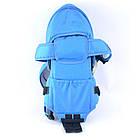 Рюкзак-кенгуру для немовлят, від 2-х місяців і вагою до 15 кг, три позиції для дитини, синій №8 - 1470, фото 4