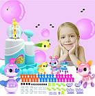 Конструктор из воздушных шаров, насос-помпа, комплект разноцветных шаров, аксессуары, Волшебная фабрика Oonies, фото 2