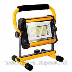 Світлодіодний Прожектор LED акумуляторний Bailong 100 Вт лампа на акумуляторах і від мережі 18650 ліхтар IP65