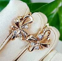 Сережки Xuping довжина 2.2см медичне золото позолота 18К с969, фото 1