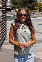 Жіноча Літнє блуза в горошок 42-44,46-48
