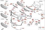 Кронштейн переднього бампера під фару правий кіа Спортейж 4, KIA Sportage 2019- Qle, 86534f1500, фото 5