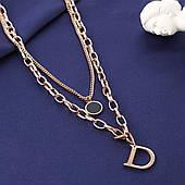 Брендовий подвійна ланцюжок з кулонами з нержавіючої сталі Stainless Steel. Медичне золото, мед сталь