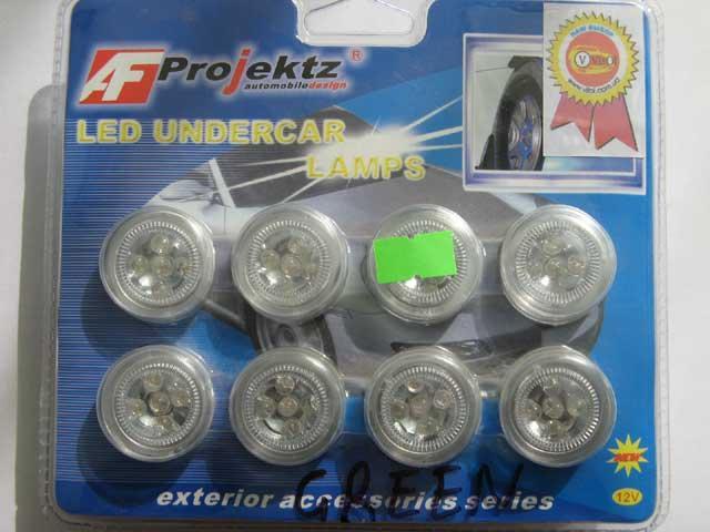 Подсветка 27068GR днища/салона 8х5 LED зеленая