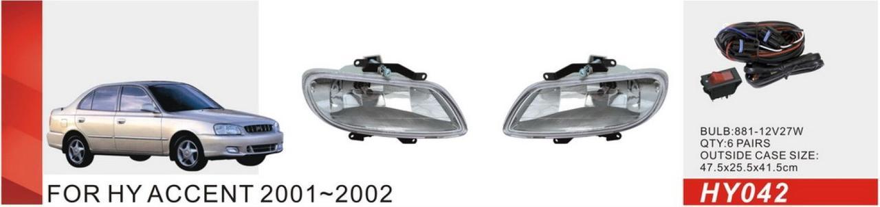 Фари дод. модель Hyundai Accent/2001/HY-042/881-27Wэл.проводка