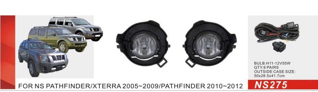 Фари дод. модель Nissan Pathfinder/Xterra 2004-/Navara 2005-/NS-275-W/H11-55W/ел.проводка