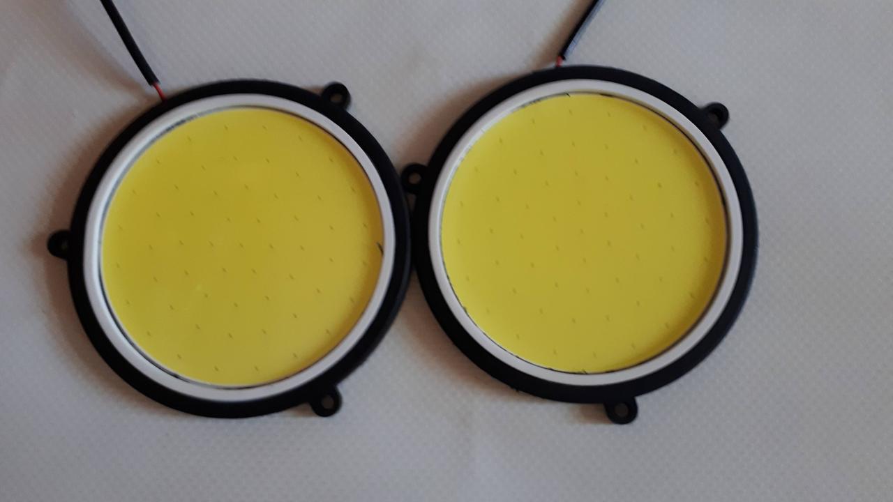 Фары дневного света (большой круг) LED d90мм COB-501