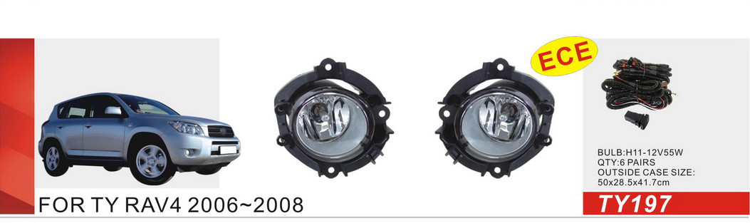 Фары противотуманные Toyota RAV-4 2006-08/TY-197-W/эл.проводка
