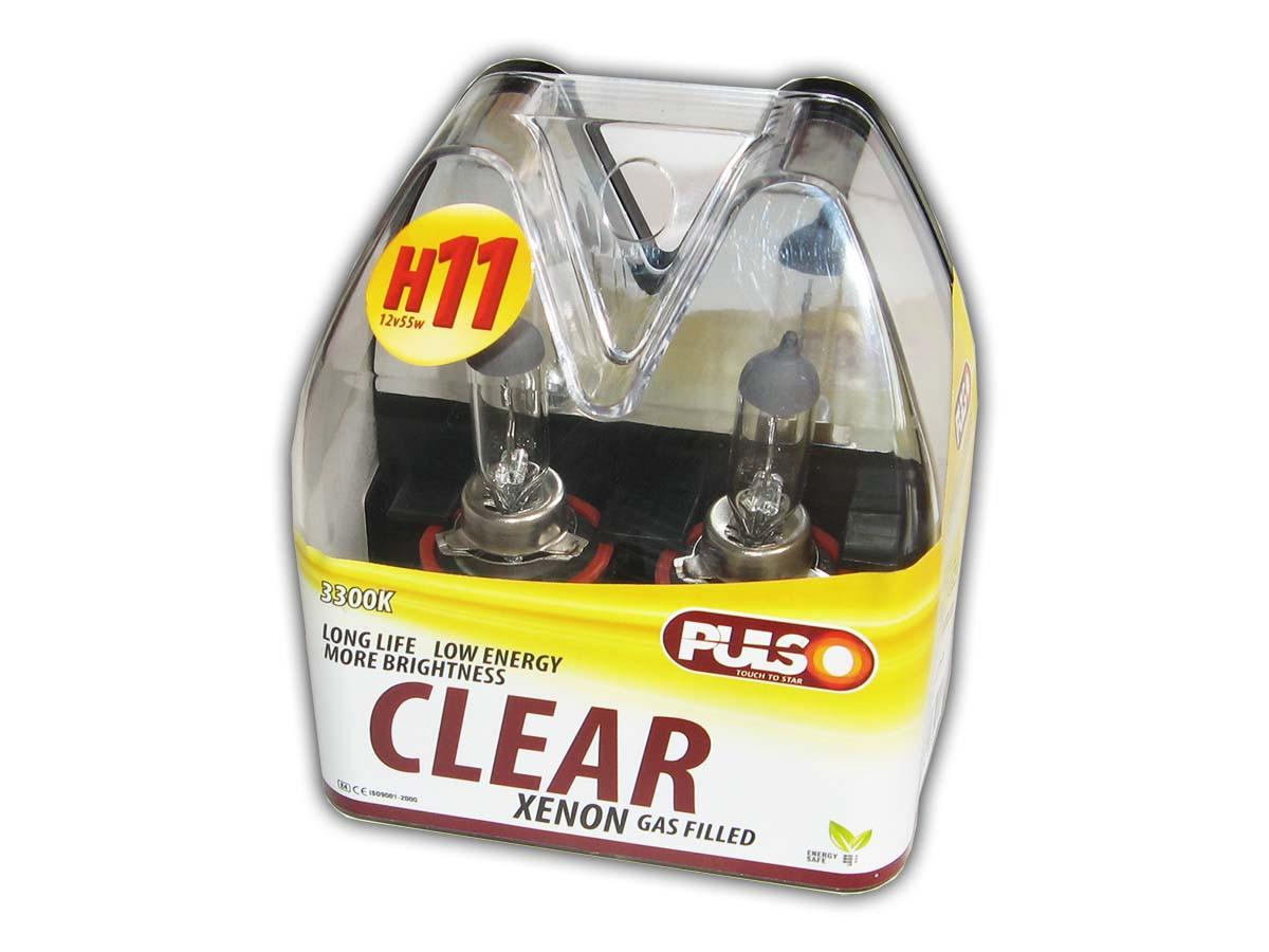 Галогенка H11 PULSO 12V 55W LP-92550 clear/plastic box