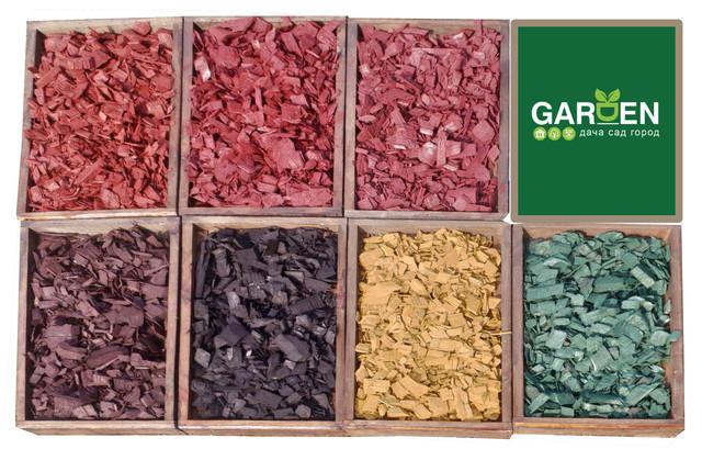 Щепа декоративна 8 кольорів лише по 75 грн за мішок 50л