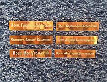 Таблички с надписями святых имен 7x1,5см (с гравировкой по булату)