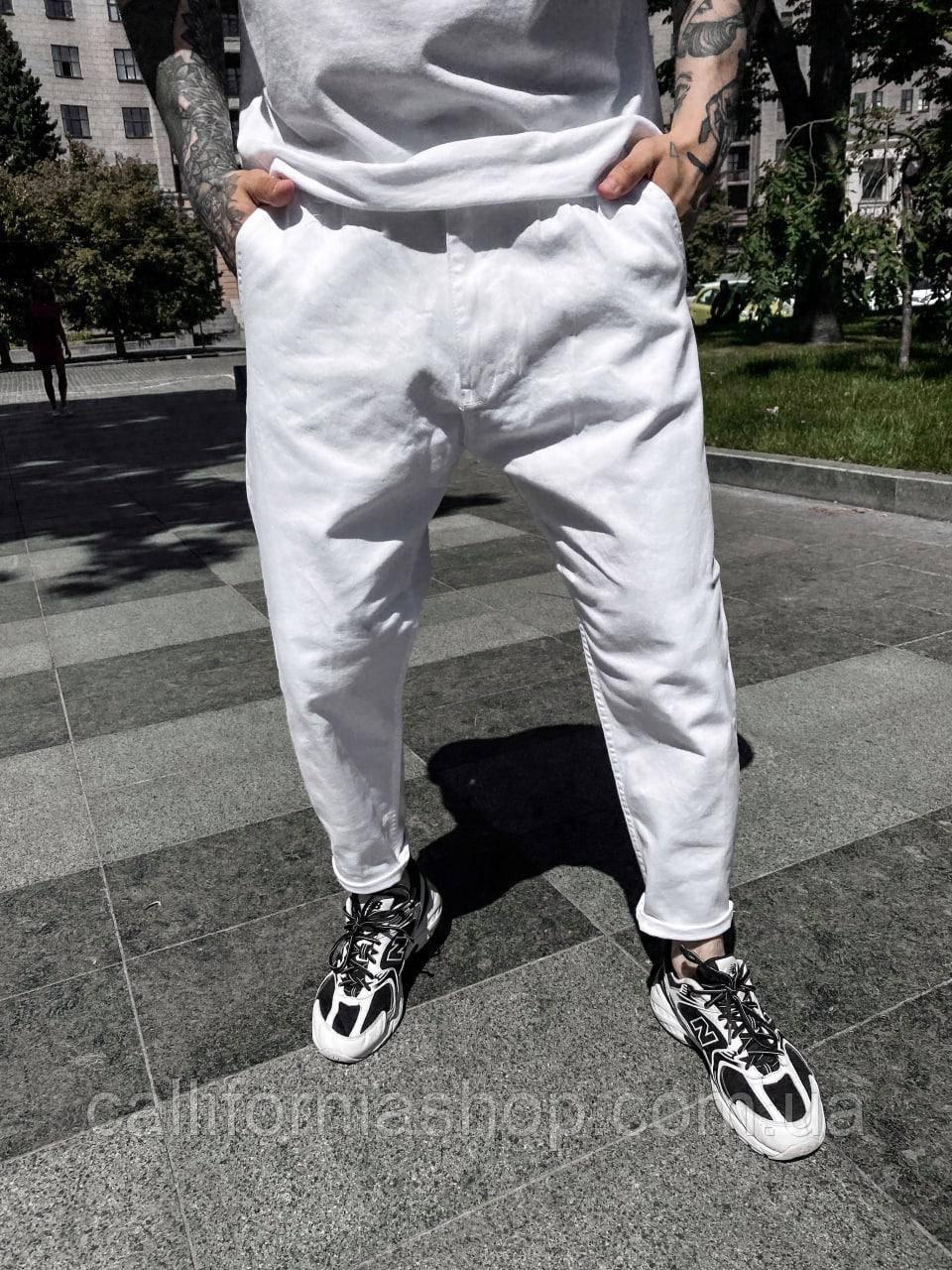 Чоловічі білі джинси mom