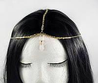 Ланцюжок золота з прозорим білим кристалом №73, фото 1