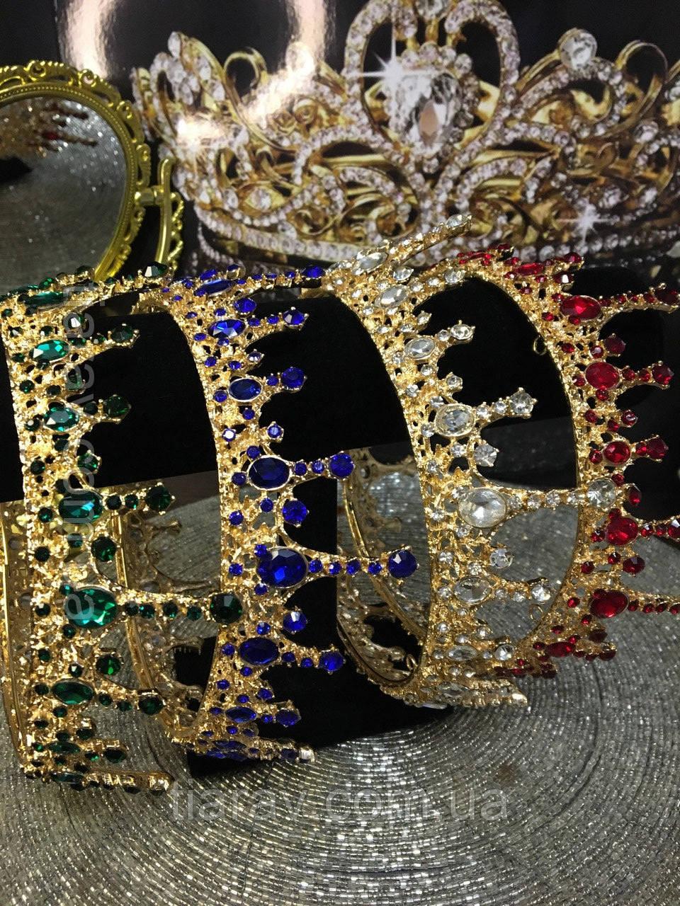 Корона кругла чоловіча, корона на голову АЛЕКСА