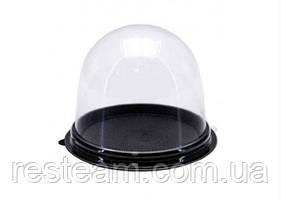 Упаковка для десертів купол/дно чорне+кришка 90*80 мм ПЕТ ПР-Т-85Д+ПР-Т-85К