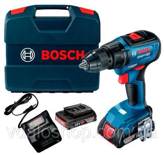 Шурупокрут Bosch GSR 18V-50 06019H5000 шуруповет електровикрутка з акумулятором і зарядкою