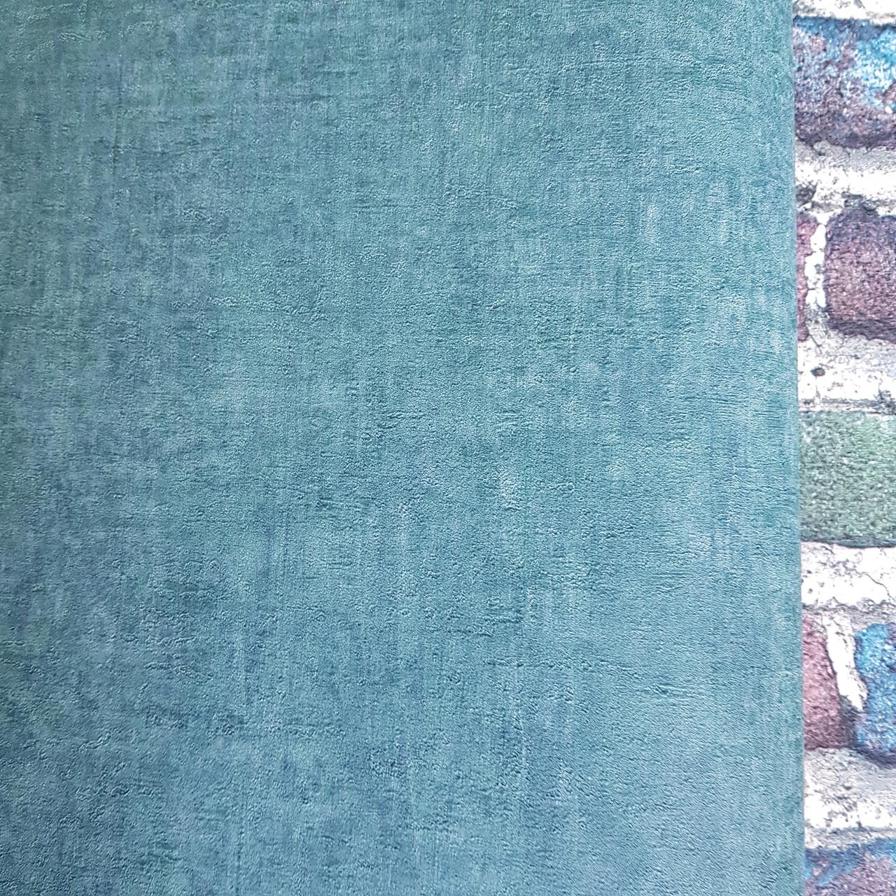 Шпалери вінілові на флізелін Rasch Factory 0.53х10,05 м під штукатурку під бетон яскраво зелені смарагдові лофт