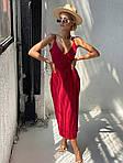 Платье софт на запах с тонкими бретелями, фото 9