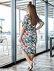 Платье-рубашка с цветочным принтом (Батал), фото 4