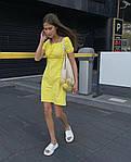 Женское коттоновое однотонное платье, фото 2