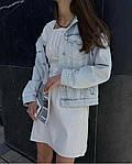 Женское коттоновое однотонное платье, фото 3