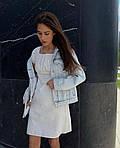 Женское коттоновое однотонное платье, фото 5