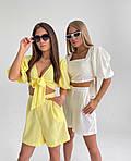 Женский костюм двойка шорты + укороченный топ, фото 5