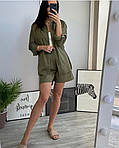 Жіночий костюм двійка шорти + сорочка, фото 3