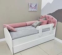 Кровать тахта детская одноместная ЛДСП, каретная стяжка Design Service DS-050