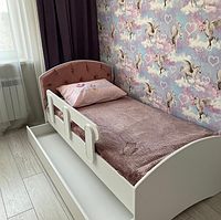 Кровать тахта детская одноместная ЛДСП, каретная стяжка Design Service DS-050 180
