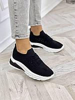 Женские кроссовки со стразами, фото 1
