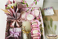 """Подарочный набор с цветами и сладостями, гифбокс """"Для Неё"""" (Макси)"""