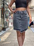 Жіноча стильна джинсова спідниця, фото 2