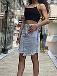 Жіноча стильна джинсова спідниця, фото 4