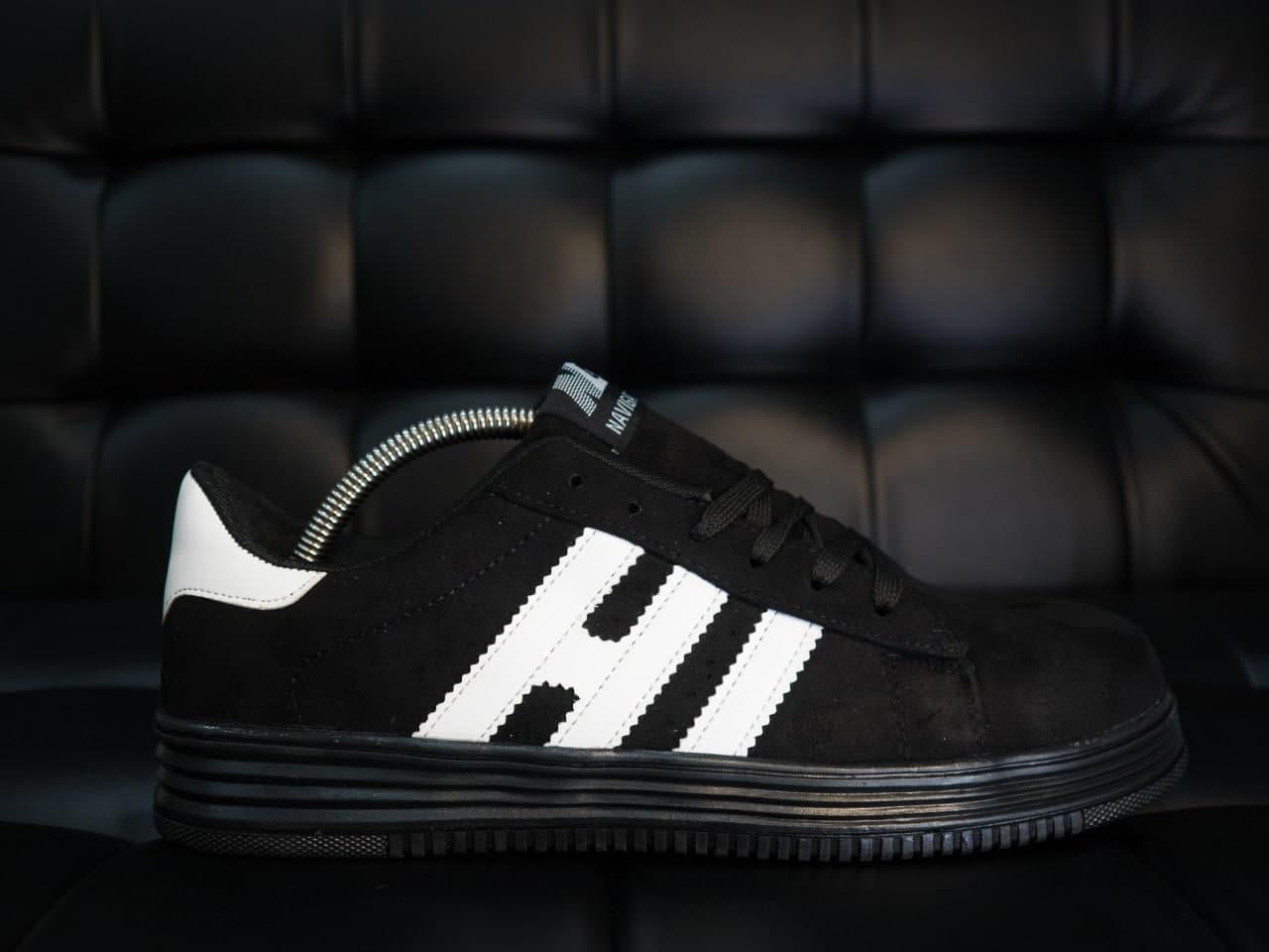 РОЗПРОДАЖ Кеди H-B V2 чорні з білим