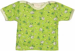 Дитяча футболка для новонароджених малюків ріст 68 3-6 міс на хлопчика дівчинку кольорова бавовна кулір білий