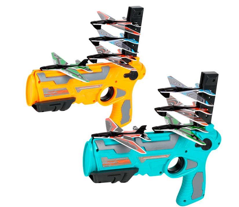 Бластер Air Battle 2088-6 с самолетиками,  пистолет катапульта для запуска самолетов