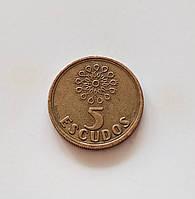 5 эскудо Португалия 1993 г., фото 1