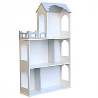 Игрушечный кукольный деревянный домик для игрушек Unitywood «Мишель» серый 105*63*20 см, (Мишель)