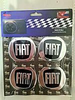 Наклейки на ковпачки, заглушки, наклейки на диски 60 мм Fiat Фіат Чорний